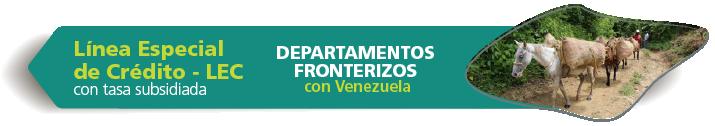 LEC departamentos fronterizos con Venezuela